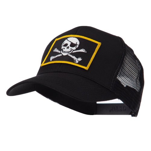 Skull and Choppers Embroidered Military Patched Mesh Cap - Jolly Roger OSFM (Hat American Chopper compare prices)