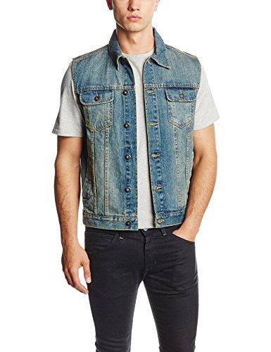 Urban Classics Denim Vest, Gilet Pullunder Uomo, Blu (lightblue 344), Large