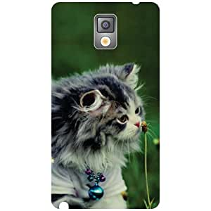 Samsung Galaxy Note 3 N9000 Back Cover - Cute Cat Designer Cases