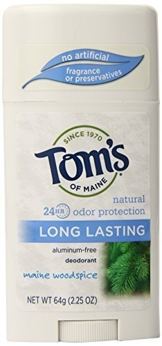 Toms of Maine Natural Care Deodorant Solid Woodspice 2.25 oz (64 g) (Pack of 6) ( Value Bulk Multi-pack)