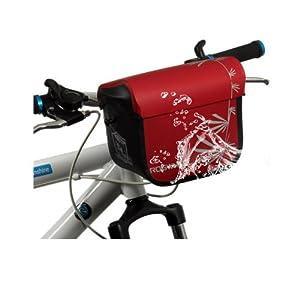 Roswheel - Bolsa impermeable para manillar de bicicleta, color rojo y negro