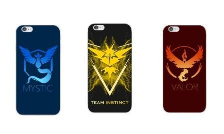 Official Pokemon Go Emblem (Team Valor, Mystic and Instict) IPhone 6 6S Cases (Instinct (Yellow))