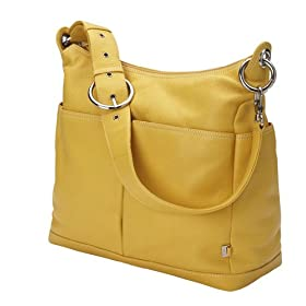 Yellow Leather Hobo Diaper Bag