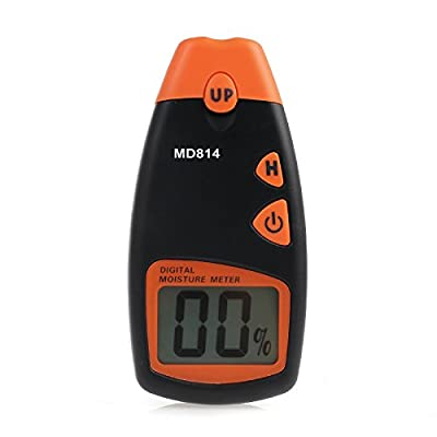 Digital Wood Moisture Meter, Proster Handheld MD814 LCD Moisture Tester Damp Meter Detector with 4 Test Probe Pins for Walls Firewood Paper Humidity Measuring