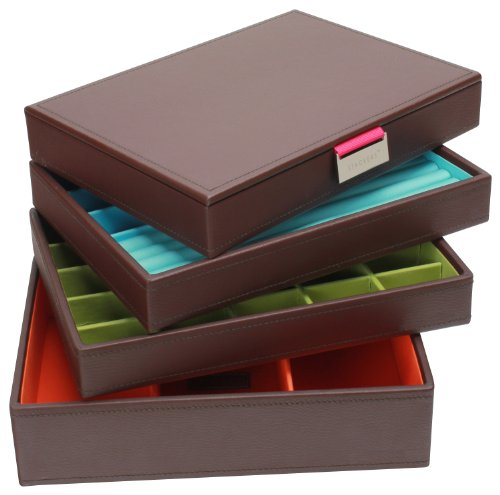 Stackers Jewelry Box Storage System - Chocolate