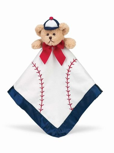 Bearington Baby Collection Baseball Slugger Snuggler Security Blanket - Baby Shower