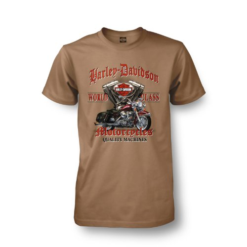 Harley-Davidson Heidelberg Germany World Class EVO T-Shirt Mens - XL/Khaki