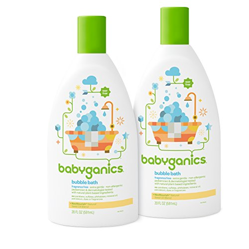 Babyganics Baby Bubble Bath, Fragrance Free, 20oz Bottle, (Pack of 2) (Full Bathtub compare prices)