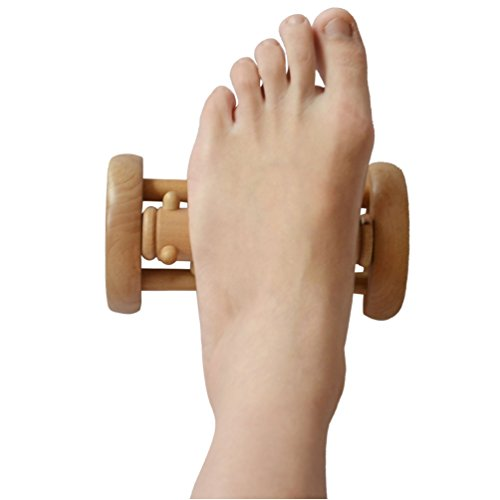 Healca ポータブル ウッド 脚部 マッサージャー 手 首 肩 腰回り 按摩 土踏まず 指圧療法 按摩 リラックス ツール