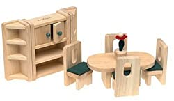Small World Toys Ryans Room Wooden Doll House -Lets Eat Dining Room