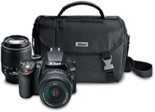 Nikon D3200 24.2 MP CMOS Digital SLR Camera with 18-55mm and 55-200mm Non-VR DX Zoom Lenses Bundle