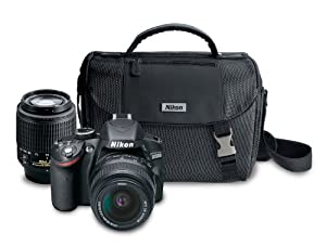 Nikon D3200 24.2 MP CMOS Digital SLR Camera with 18-55mm VR and 55-200mm Non-VR DX Zoom Lenses Bundle