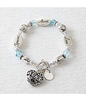 Personalized Sentiment Bracelets Personalized Aunt Sentiment