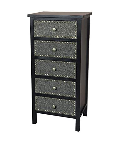 Gallerie Décor Ritz 4-Drawer Cabinet, Espresso