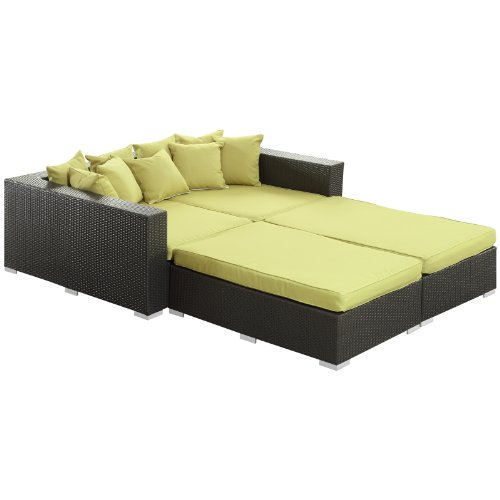 lexmod-palisades-outdoor-wicker-patio-daybed-4-piece-set-in-espresso-with-peridot-cushions