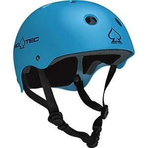 Pro-tec Classic Skate Matte Skateboard Helmet, Blue, Large
