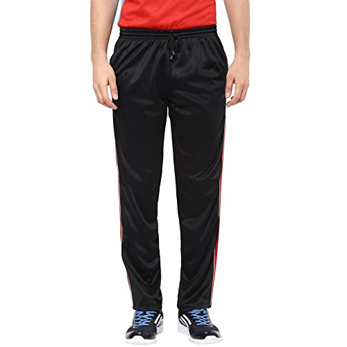 American-Crew-Mens-Polyester-Trackpant-Black