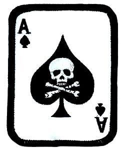 Patch ecusson as de pic ace of spaldes airsoft biker militaire armée skull
