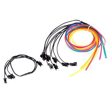 6 mètres Flexible voiture décoratifs Neon Light 4mm EL Wire Rope avec inverseur de voiture de lumière , Red