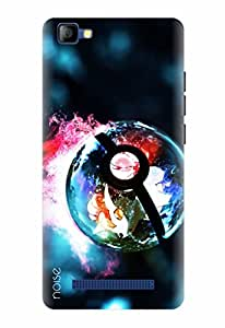 Noise Designer Printed Case / Cover for LYF FLAME 8 / Animated Cartoons / Lights Of Pokemon Design