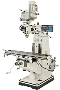 SHOP FOX M1004 9-Inch by 49-Inch Vertical Mill with Digital Readout by Shop Fox