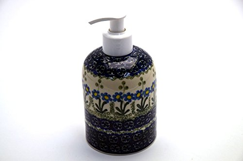 Polish Pottery Soap/Lotion Dispenser - Blue Spring Daisy (Polish Pottery House compare prices)