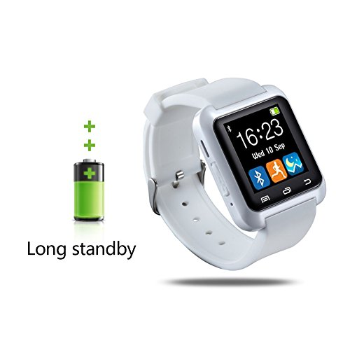 U80 Smart Watch, 007plus® Bluetooth 4.0 Fitness Smart Watch Phone for Smartphone Android Samsung S2/S3/S4/S5/S6Note 2/Note 3/Note 4/HTC Part Function for iPhone-U80 WHITE