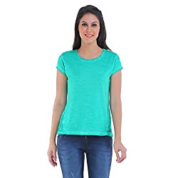 Meish Green Solid Top for Women