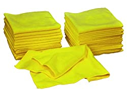 Eurow Microfiber Premium 16in x 16in 350 GSM Cleaning Towels 36-Pack
