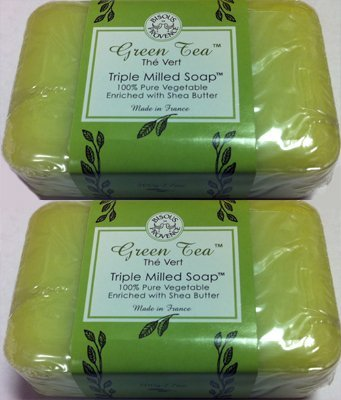 2 Pack Green Tea The Vert Triple Milled Soap 100%  ...