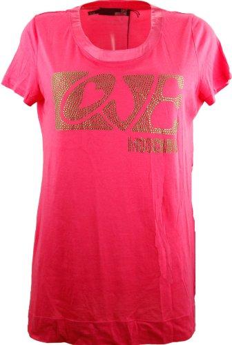 Love Moschino Pink Diamante T-Shirt