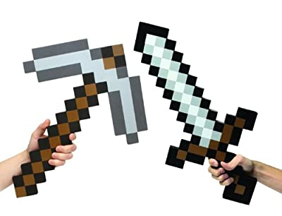 Minecraft Foam Sword Pickaxe Combo Set Of 2 by Minecraft's World