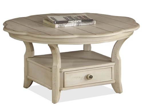 Buy low price riverside cape may round coffee table in for Buy white coffee table