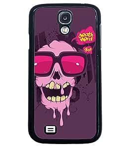 Fuson Cute Skull Back Case Cover for SAMSUNG GALAXY S4 - D3794