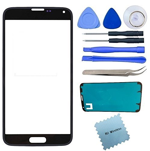 Samsung Galaxy S5 Broken Front Glass Screen Replacement Kit / Adhesive / Lens Repair / Instructions / Tools GS5 (Black) (S5 Repair Kit compare prices)