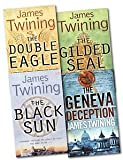 James Twining James Twining Collection 4 Books Set Pack RRP: £ 27.96 (The Double Eagle, The Black Sun, The Geneva Deception, The Gilded Seal) (James Twining Collection)