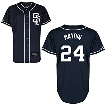 Cameron Maybin Jersey San Diego Padres Adult Alternate Navy #24 by Majestic