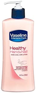 Vaseline Intensive Care Lotion Healthy Hand & Nail Pump 10.5oz.