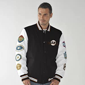 San Francisco Giants Box and 1 World Series Champs Commemorative Canvas Jacket by G-III Sports