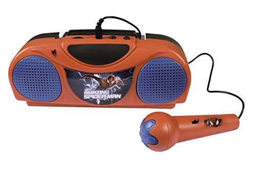 The Amazing Spider-man Radio Karaoke Toy – Portable Fm Radio with Microphone for Kids