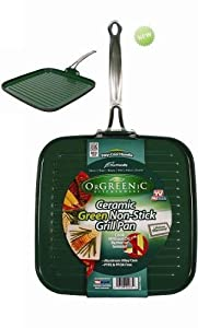 Orgreenic Ceramic Green Non-Stick Griddle / Grill Pan (2)