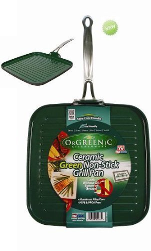 Orgreenic Ceramic Green Non-Stick Griddle / Grill Pan