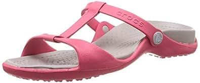 Amazon.com: Crocs Women's Shoes Cleo III Poppy Platinum UK4 Poppy