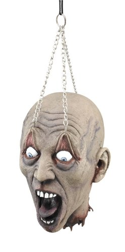 Hanging Head on Chain Horror Halloween Fancy Dress Stage Prop