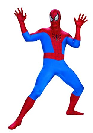 Disguise Men's Marvel Spider-Man Rental Costume, Blue/Red, X-Large
