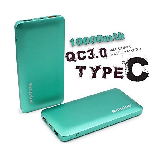 Imazing-10000mah-Qualcomm-Quick-Charge-30-Type-C-5V3A-input-output-Power-Bank-Portable-Charger-External-Battery-Pack-3A-30-5V-9V-12V