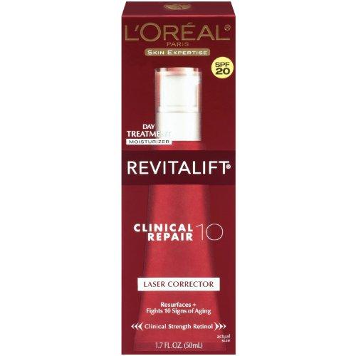 L'Oreal Paris Revitalift Clinical Repair 10 Laser Corrector Spf 20, 1.7 Fluid Ounce front-376287