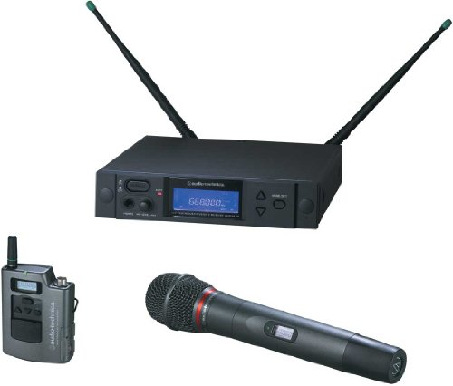 Audio-Technica Aew-4314Ac | Uhf Dual Transmitters Wireless System Handheld Dynamic Microphone