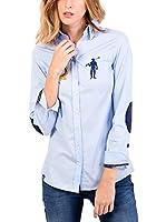 POLO CLUB CAPTAIN HORSE ACADEMY Camisa M-L/L-S Shirt Rigby Brand Shirt Sra (Azul Celeste)