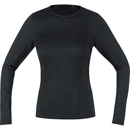 Gore Bike Wear UTSLLA990004 Maglia a maniche lunghe, Intimo Donna, Termica, GORE Selected Fabrics, BASE LAYER Thermo long, Taglia 38, Nero